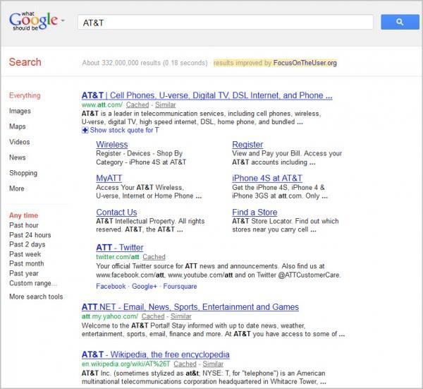 Google Don't Be Evil Bookmarklet Released