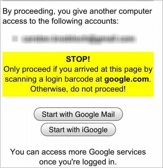 google smartphone login