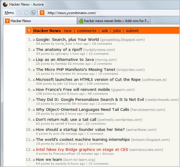 Highlight New Links On Hacker News