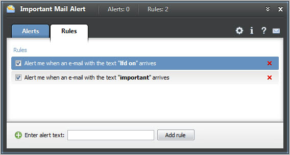 important mail alert