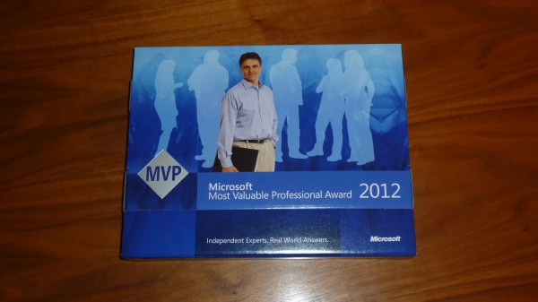 What's in the 2012 MVP Award Pack