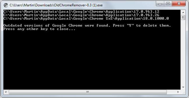 remove old google chrome versions