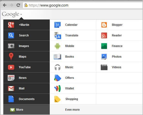 smaller google bar
