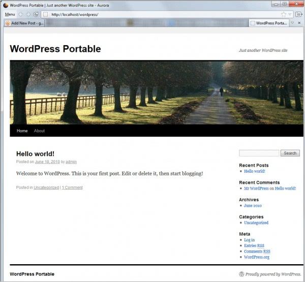 wordpress portable
