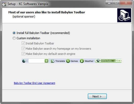 babylon toolbar