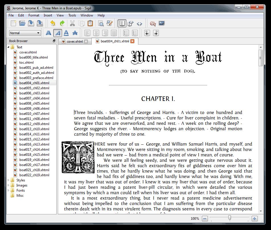 ebook editor sigil