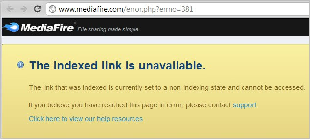 MediaFire Download Links On Google Search Not Working Anymore