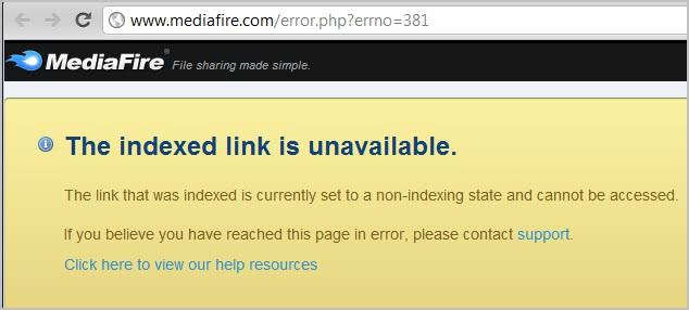 mediafire downloads not working