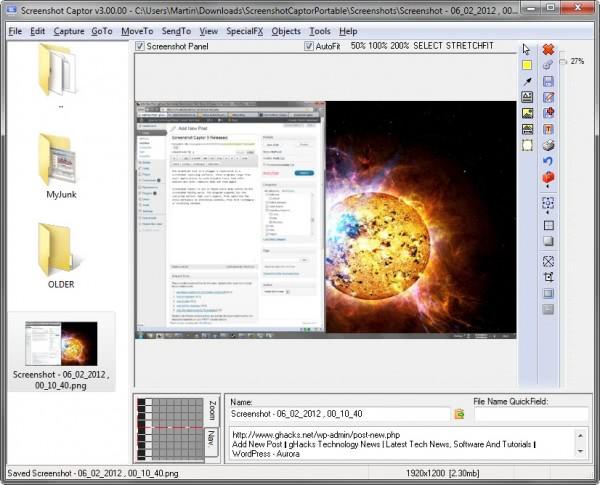 screenshot captor 3