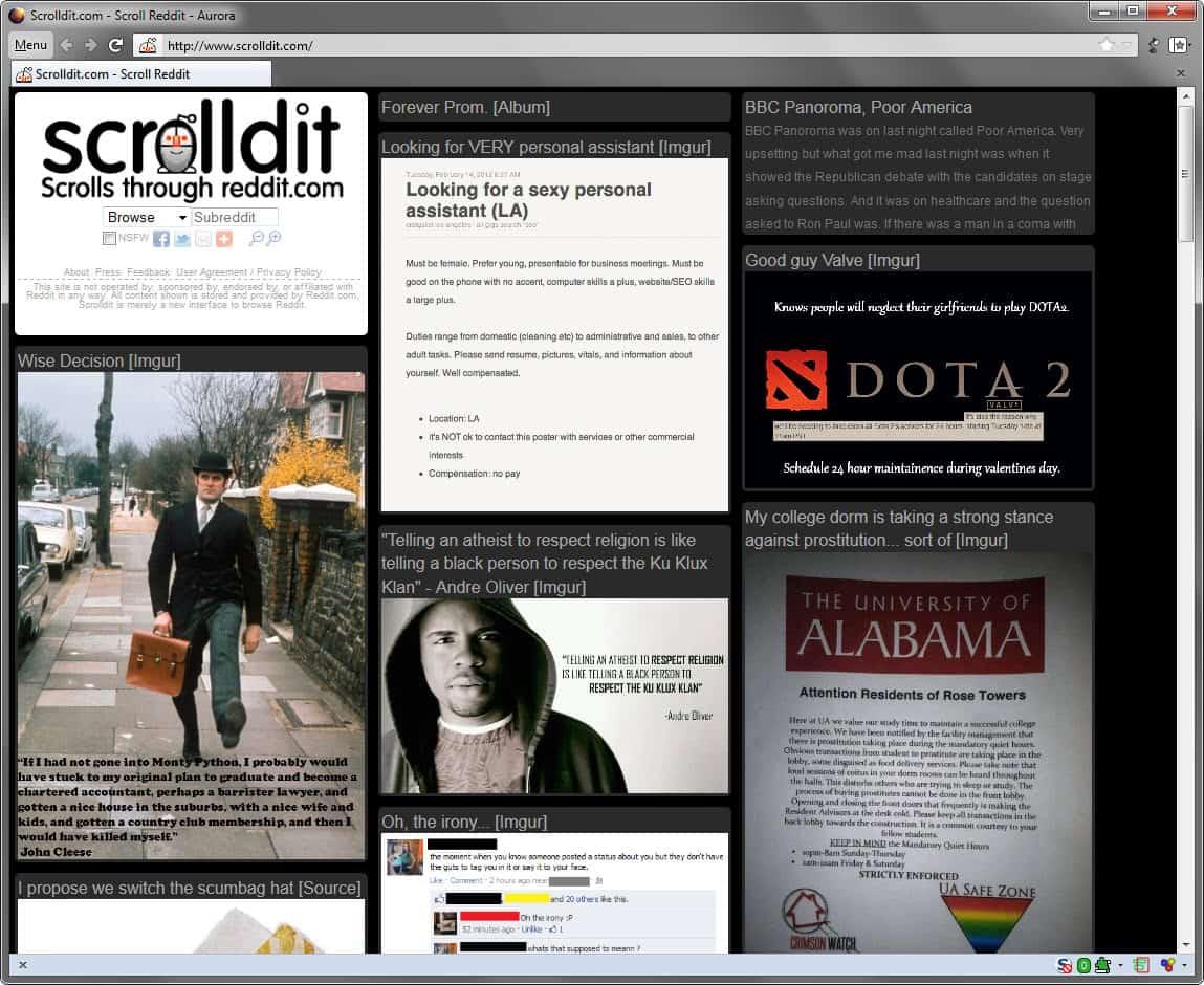 Scrolldit, A Visual Reddit Frontend - gHacks Tech News