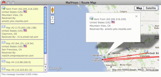 mail hops mapping