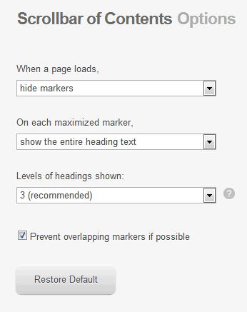 scrollbar navigation