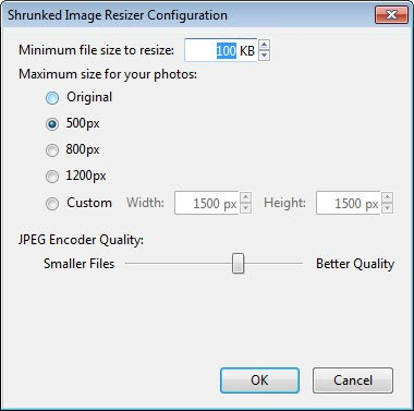 shrunked image resizer
