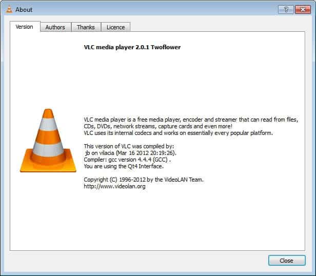 vlc media player 2.0.1 update