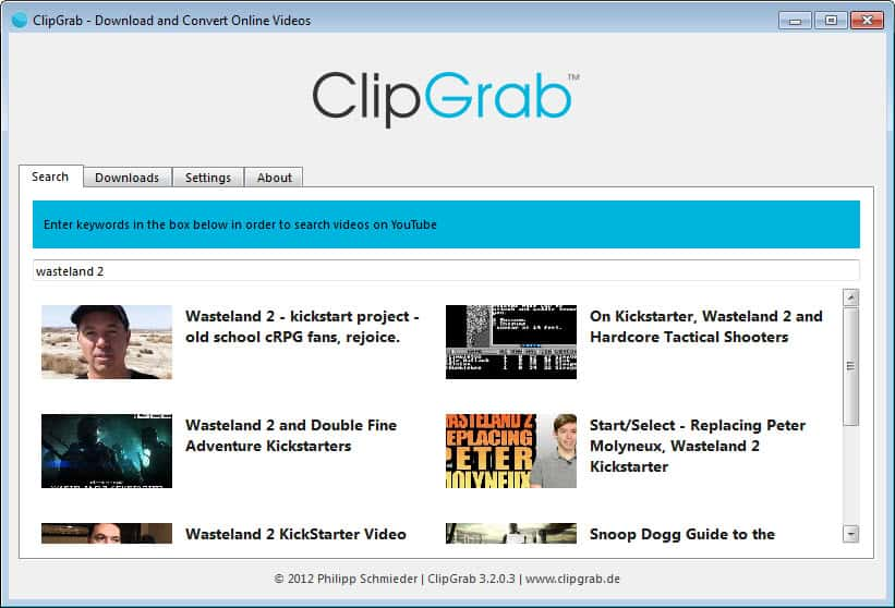 ClipGrab Lets You Download Videos From The Internet