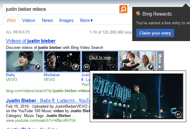 Bing Video Search Updated With Larger Previews