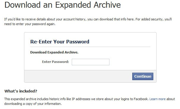 download an expanded archive