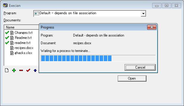 execian open documents