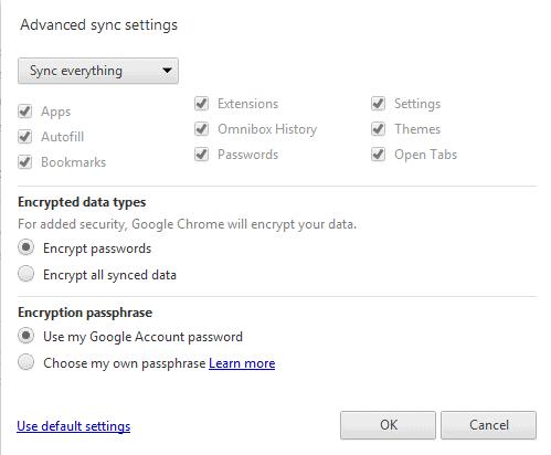 google chrome sync open tabs