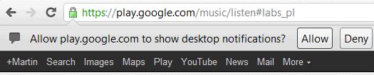 google play desktop notifications
