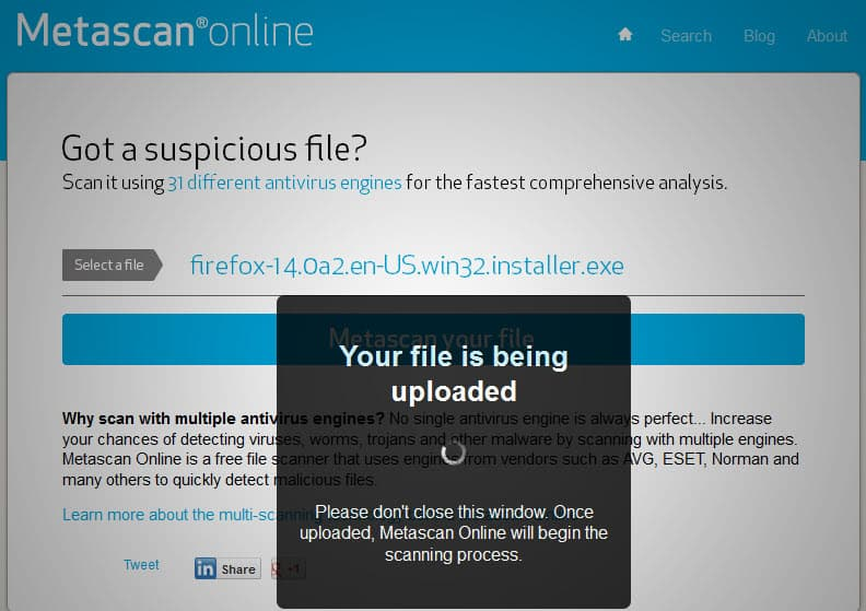 Metascan Update, Scan Files For Viruses Online - gHacks Tech
