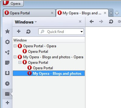 opera windows panel