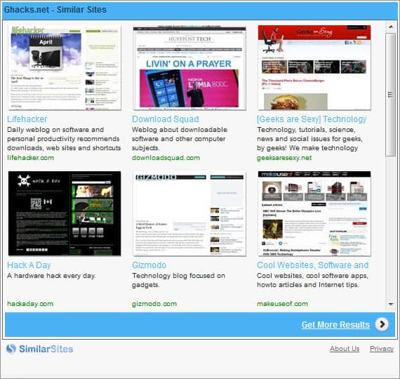 similar sites related websites