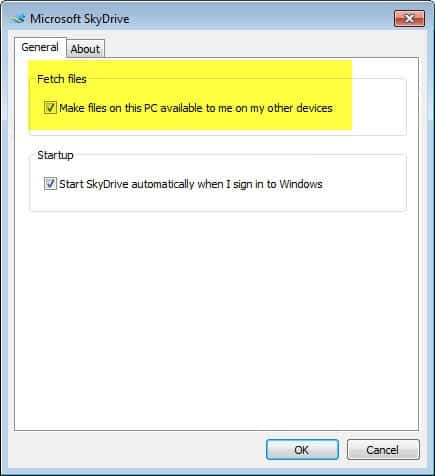skydrive remote access