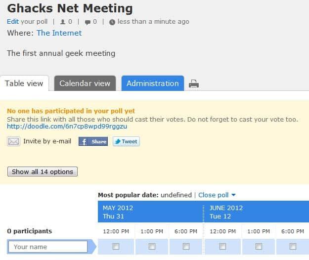 doodle schedule meetings events