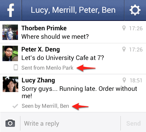 facebook read confirmations