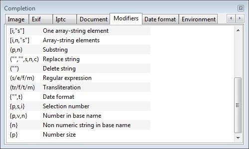 file format variables