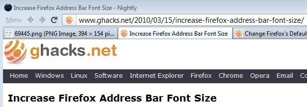 firefox large font url-bar