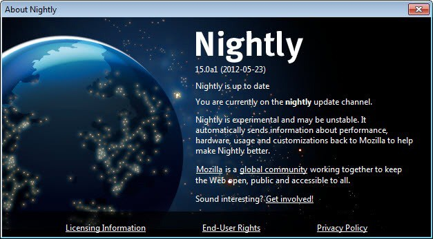 firefox nightly update