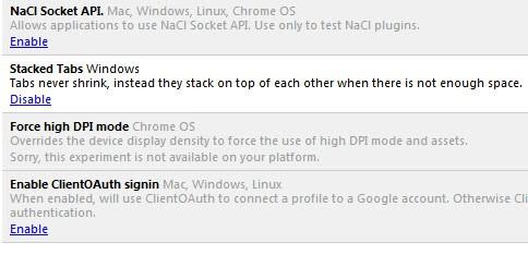 google chrome tab stacking