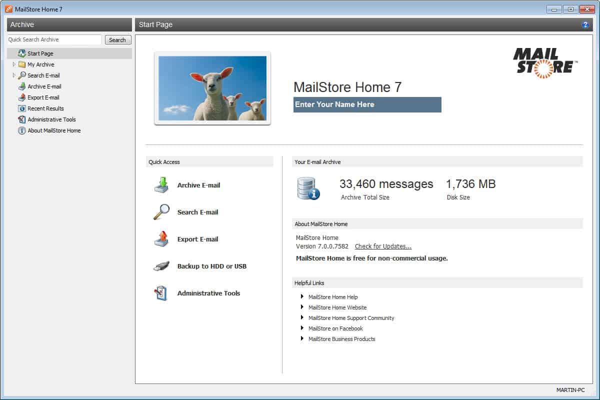 MailStore Home 7 0: Email Archiving Software - gHacks Tech News
