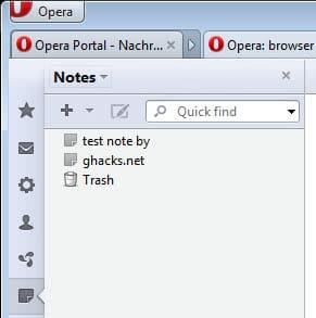opera notes