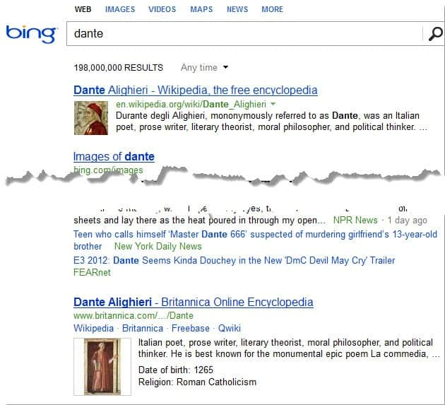 Bing integrates New Britannica Encyclopedia information in