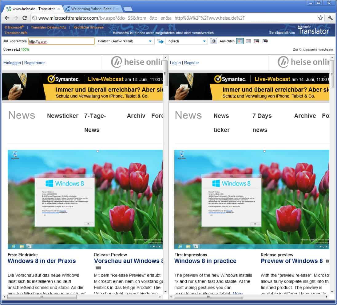 Goodbye Babel Fish, Hello Bing Translator - gHacks Tech News