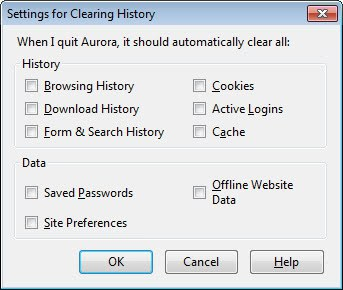 clearing history