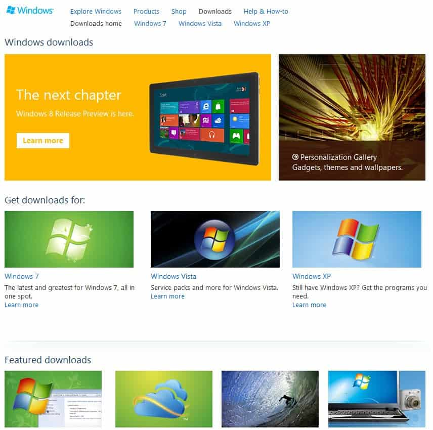 Microsoft launches Metro-inspired website preview - gHacks Tech News