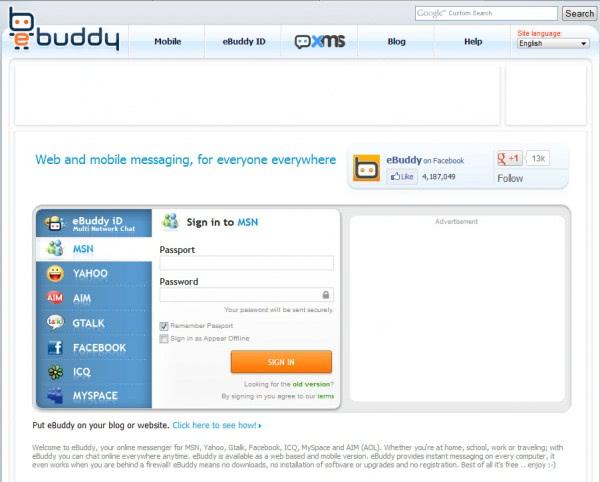ebuddy web messenger para celular
