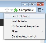 Fire IE, Run Internet Explorer compatible sites in Firefox - gHacks