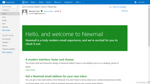 hotmail metro redesign