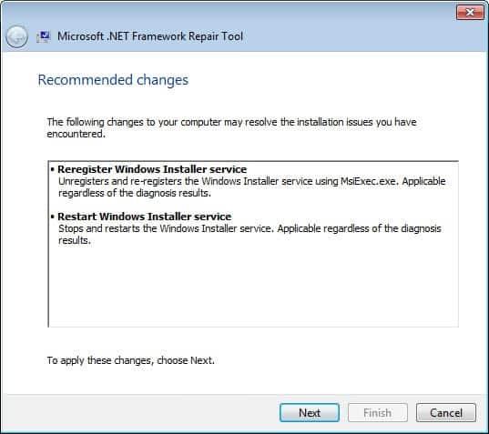 microsoft net framework repair tool