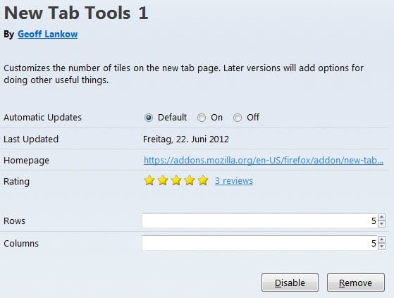 new tab tools