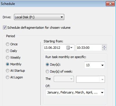 schedule defrag