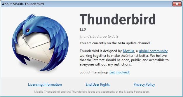 thunderbird 13