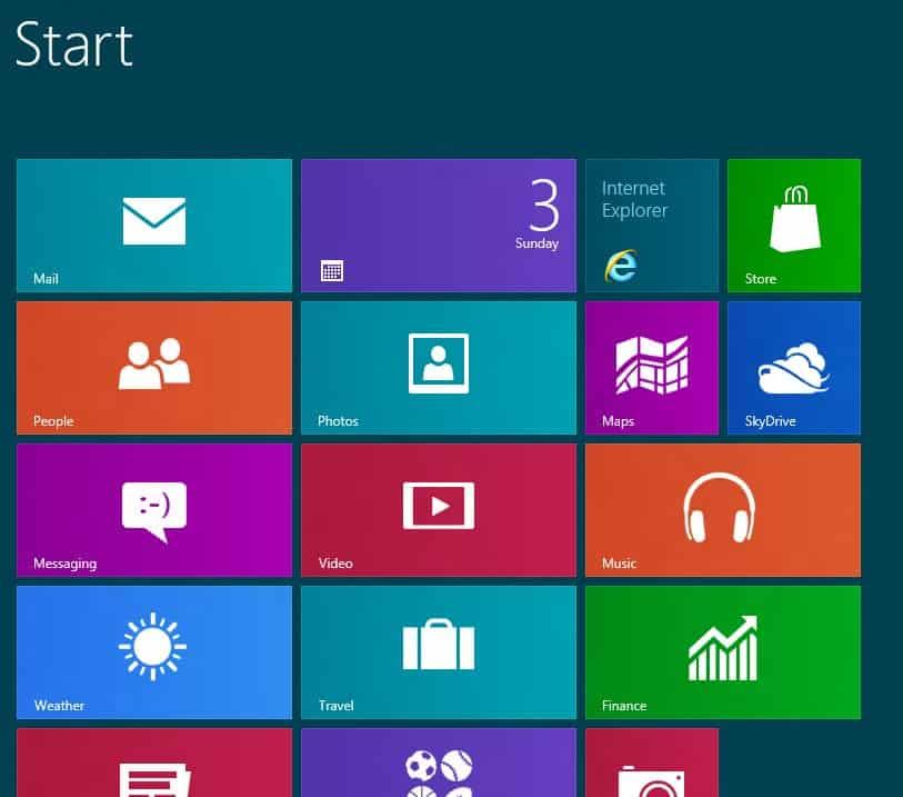 Windows 8: Start Screen Not Final