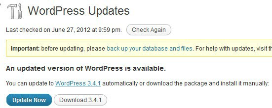 wordpress 3.4.1