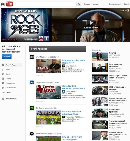 youtube redesign white